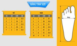 Cách đo size giày – Đo size giày nam nữ chỉ trong 4 bước tại nhà