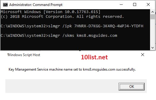 lệnh kms8 msguides chấm com