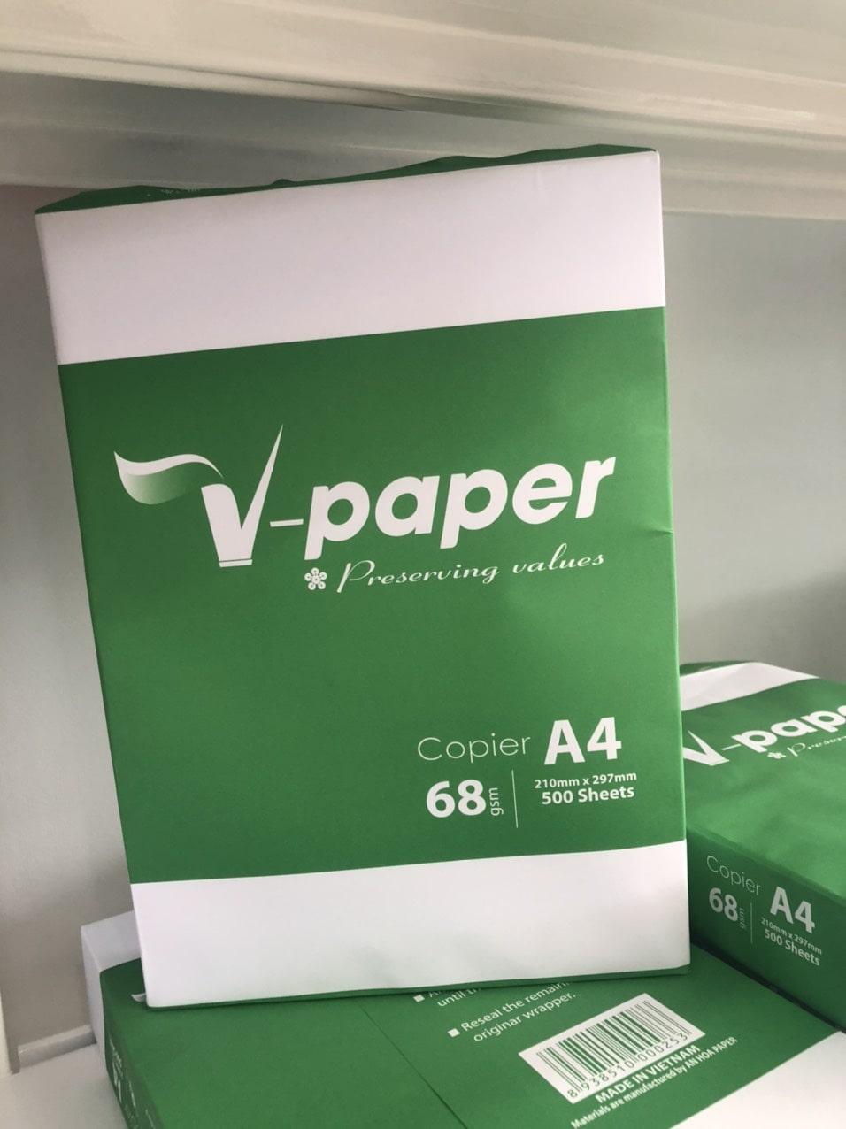 Top 5 đại lý bán giấy in A4 V-paper 62, 68 gam giá sỉ 1