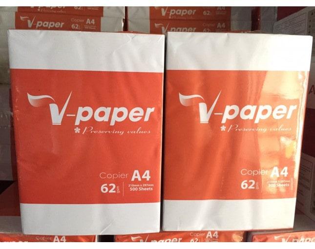 Top 5 đại lý bán giấy in A4 V-paper 62, 68 gam giá sỉ